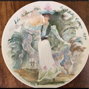 Porcelain plate de Limoges France.Premier edition